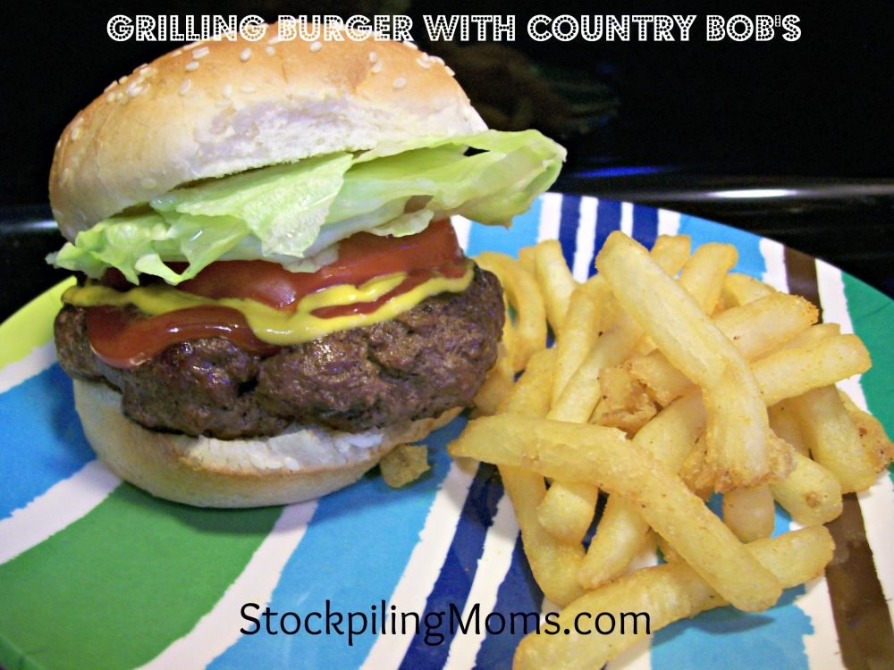 Grilling Burger with Country Bob's