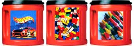 Homemade Canisters for small toys