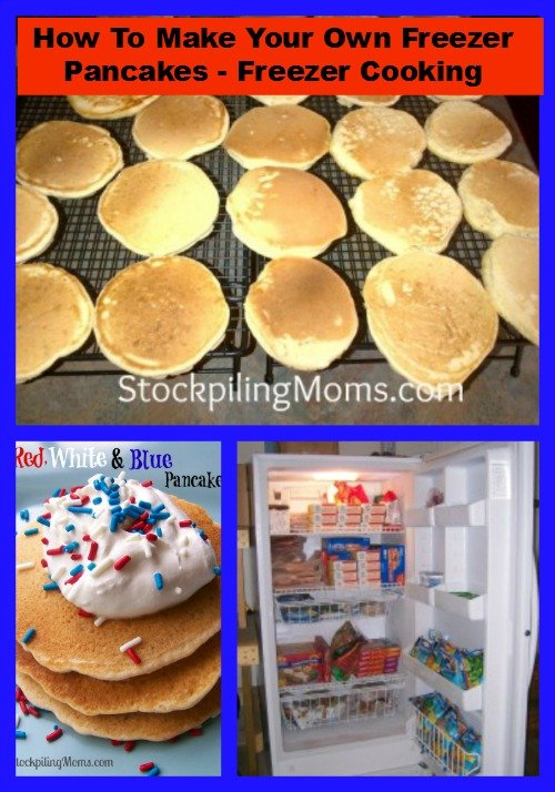How To Make Your Own Freezer Pancakes - Freezer Cooking Breakfast Hack