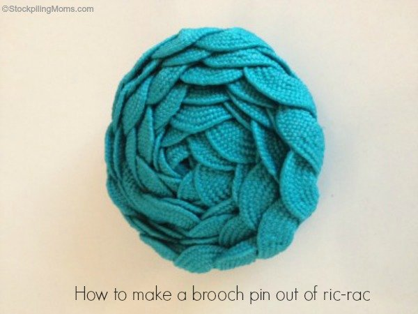 How to make a brooch pin out of ric-rac