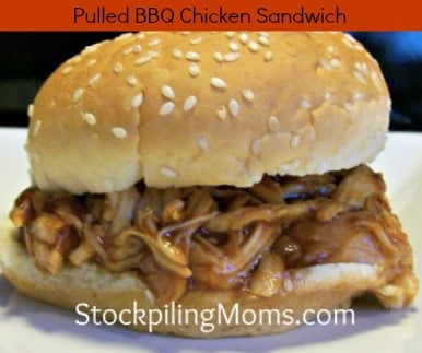 This Pulled BBQ Chicken Sandwich Recipe is perfect when you need to feed a large crowd.