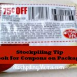 Stockpiling Tip – Look for Coupons on Packages