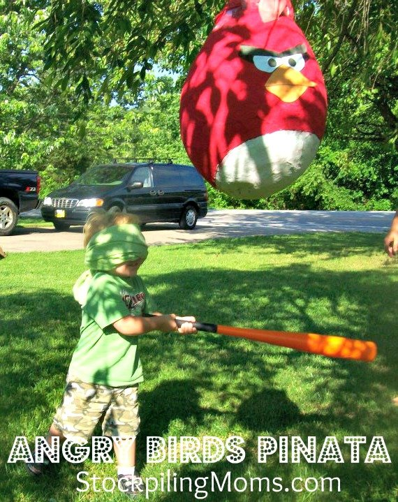 Angry birds space red pull string pinata ebay