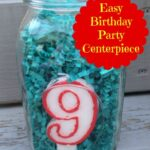 easy birthday centerpiece