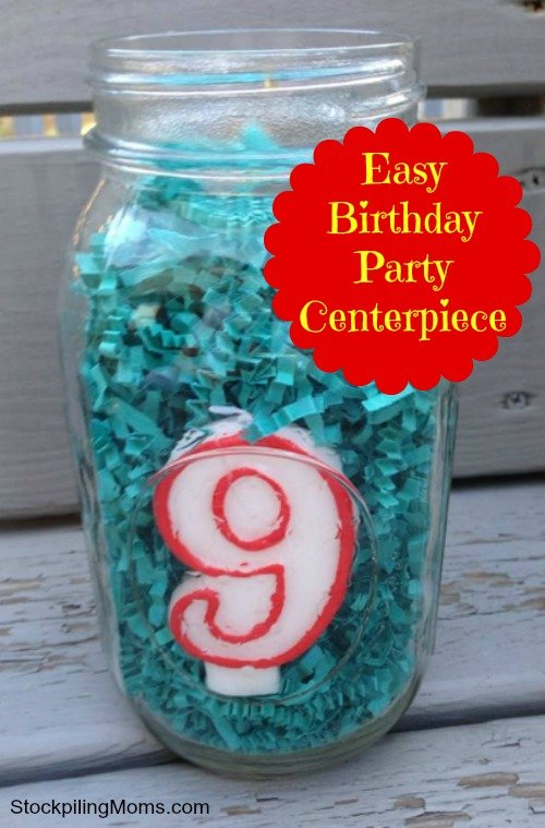 Inexpensive birthday party centerpiece