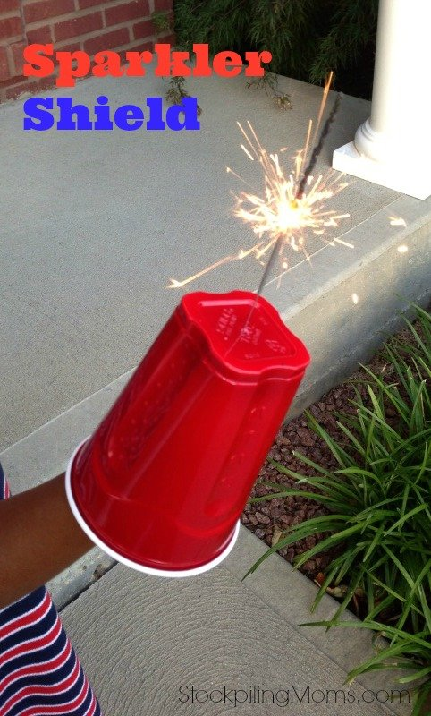This Sparkler Shield is great for protecting little hands on July 4th!