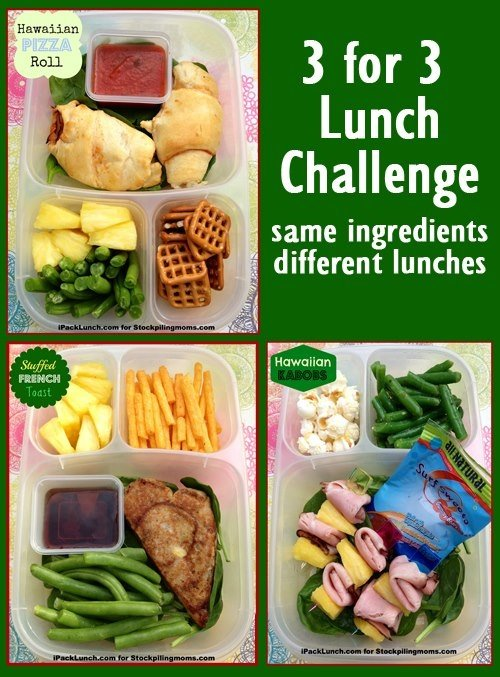 Lunch Challenge - Same Ingredients Different Lunches