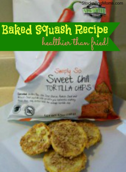 "Baked ""Fried"" Squash is easy to prepare. The taste is amazing. It is healthier than fried squash and tastes great! #GlutenFree"