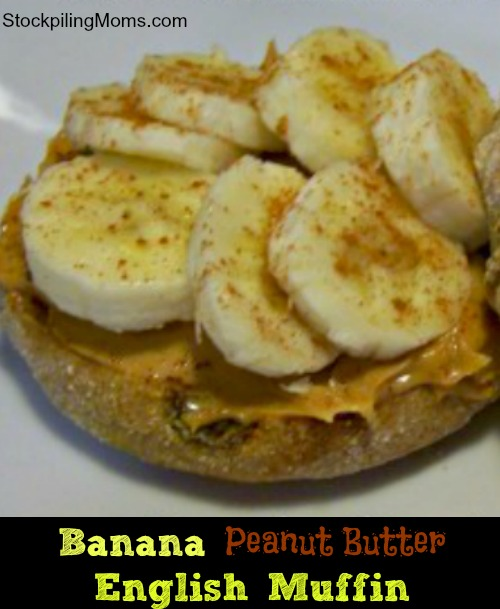 Banana Peanut Butter English Muffin