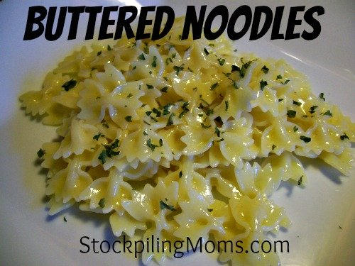 You can't go wrong with buttered noodles. This is a delicious high carb side dish that kids love.