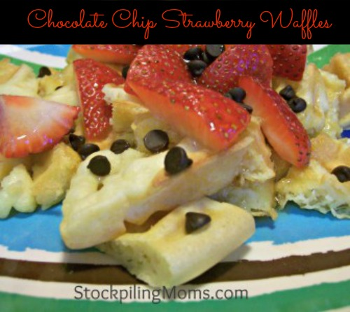 Chocolate-Chip-Strawberry-Waffles are so easy to prepare and taste delicious!