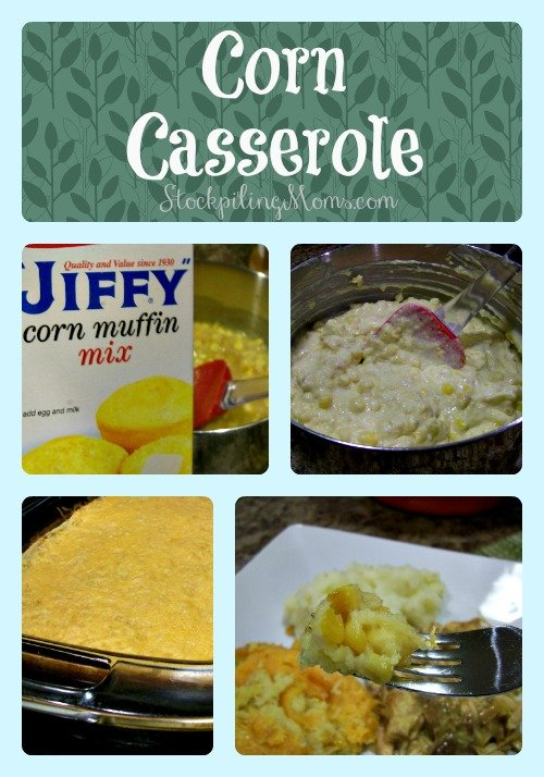 Corn Casserole is so easy to make and tastes delicious!