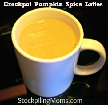 Crockpot Pumpkin Spice Lattes are easy to make and more affordable than the coffee shops...