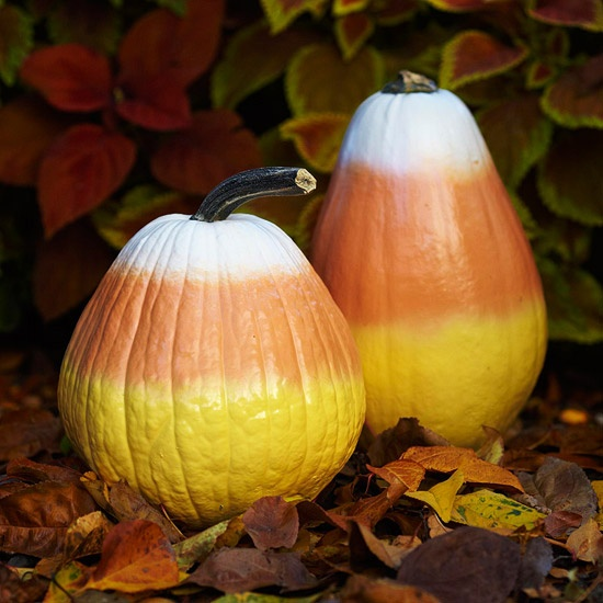 Fall Candy Corn Pumpkins