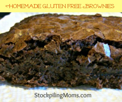 Homemade Gluten Free Brownies are so moist and delicious. No one will believe they are gluten free!
