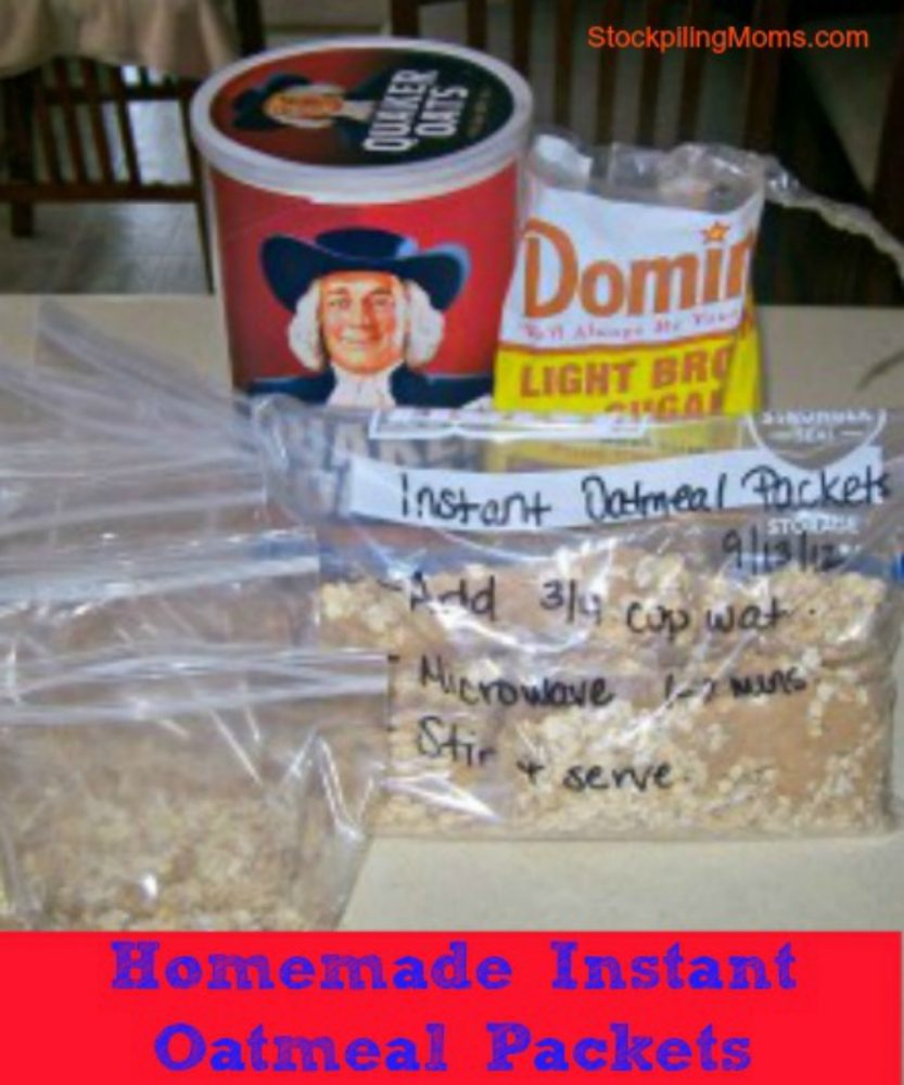A great way to save money is by making homemade instant oatmeal packets!