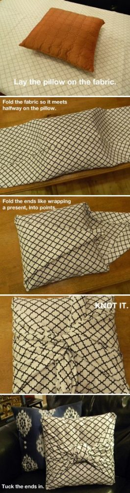 No Sew Pillow Cover