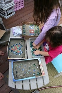 Stepping Stones using Cereal Boxes