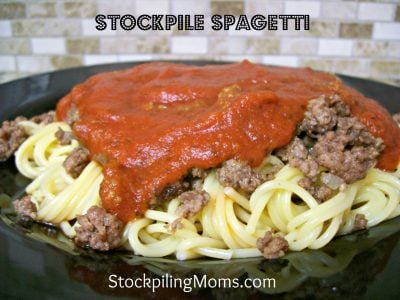 Stockpile Spaghetti is an amazing easy dinner dish!
