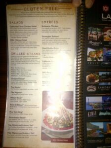 Claim Jumper Dining Out Glutenfree