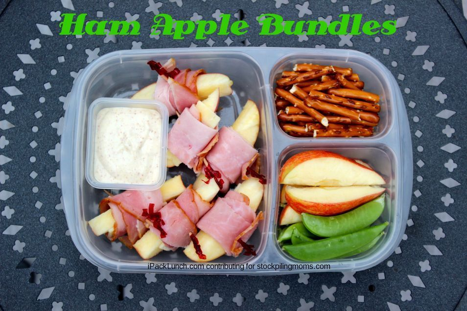 3 for 3 Lunch Challenge - Lunchbox Ideas perfect for Fall! This week we are using Ham, Apples & Snap Peas