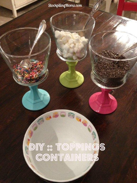 How To Make Toppings Containers For Ice Cream Party