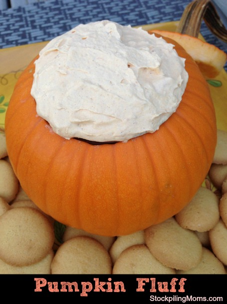 Only 2 Weight Watchers points+ in this yummy pumpkin fluff recipe when you make it with fat free, sugar-free pudding mix.