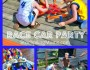 race car party collage