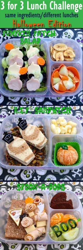 3 for 3 Lunch Challenge - Halloween Lunch Ideas