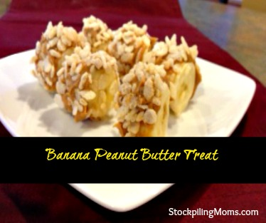 This gluten free banana peanut butter treat is yummy as an afternoon snack.