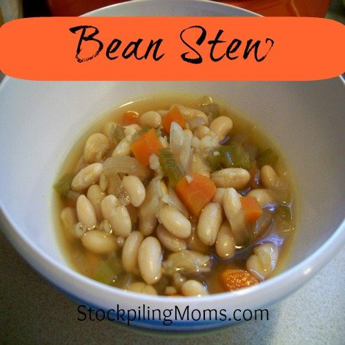 Crockpot Bean Stew is a delicious Vegetarian recipe and an easy freezer meal!