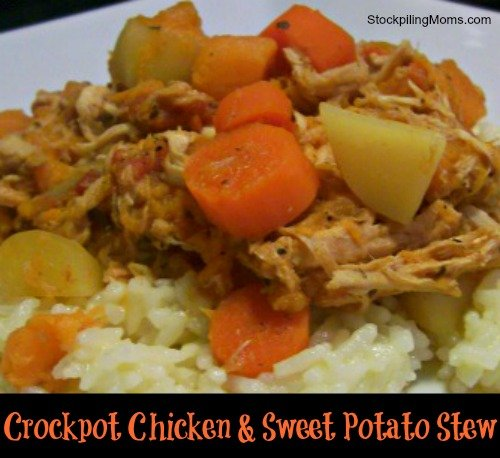 Crockpot Chicken and Sweet Potato Stew Recipe is perfect for fall!