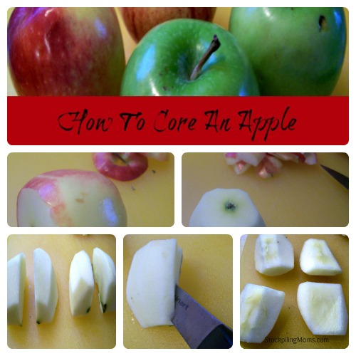 How to core an apple with a knife