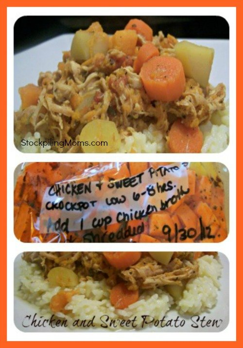 Crockpot Chicken & Sweet Potato Stew Collage
