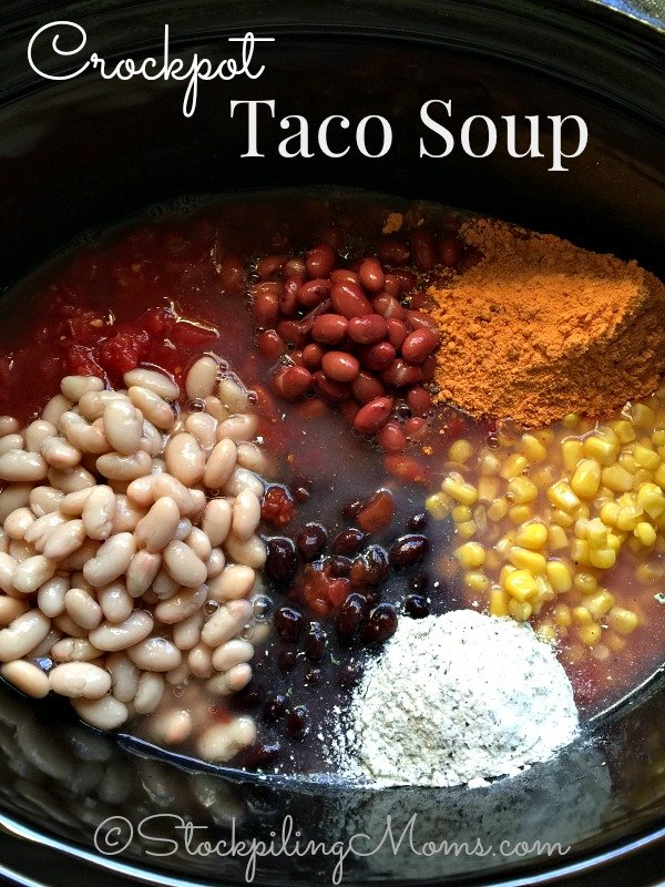 Crockpot Taco Soup Recipe is a an easy freezer meal the whole family will love.