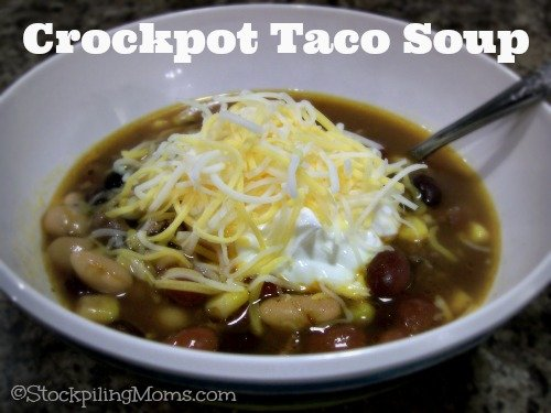 Crockpot Taco Soup is amazing and only 4 Weight Watchers Points!