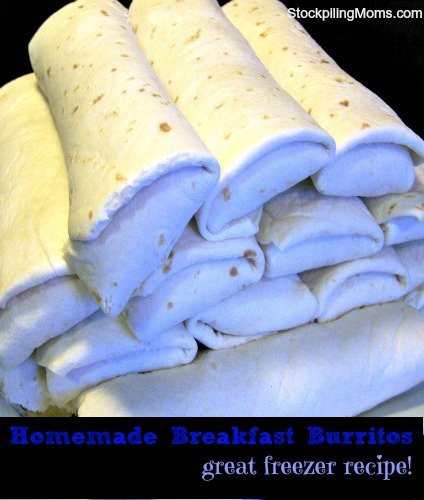 Freezer Cooking - Homemade Breakfast Burritos