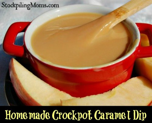 Homemade Crockpot Caramel Dip Recipe - Prepared with ONE ingredient and your slow cooker! That is it and perfect for fall!