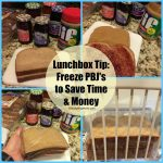 Lunchbox Tip – Freeze PBJ's to Save You Time & Money