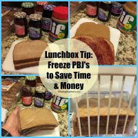 Lunchbox Tip - Freeze PBJ's to Save You Time & Money