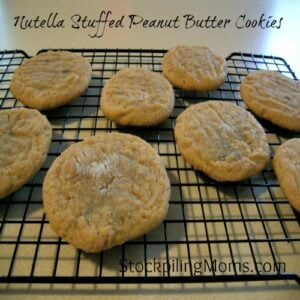 Nutella Stuffed Peanut Butter Cookies Recipe