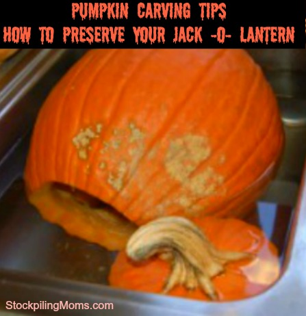 How to Preserve your Jack -o- Lantern and make it last all season!