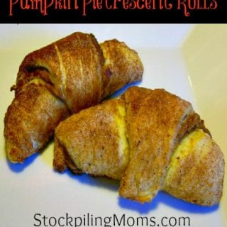 Pumpkin Pie Crescent Rolls