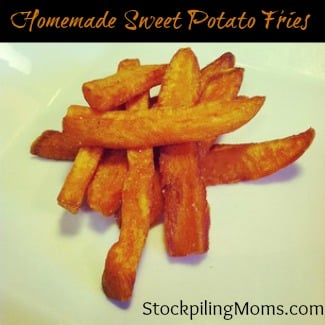 Homemade Sweet Potato Fries Recipe - A Heart Healthy Side Dish Recipe