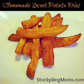 Homemade Sweet Potato Fries Recipe are a Delicious Heart Healthy Side Dish Recipe