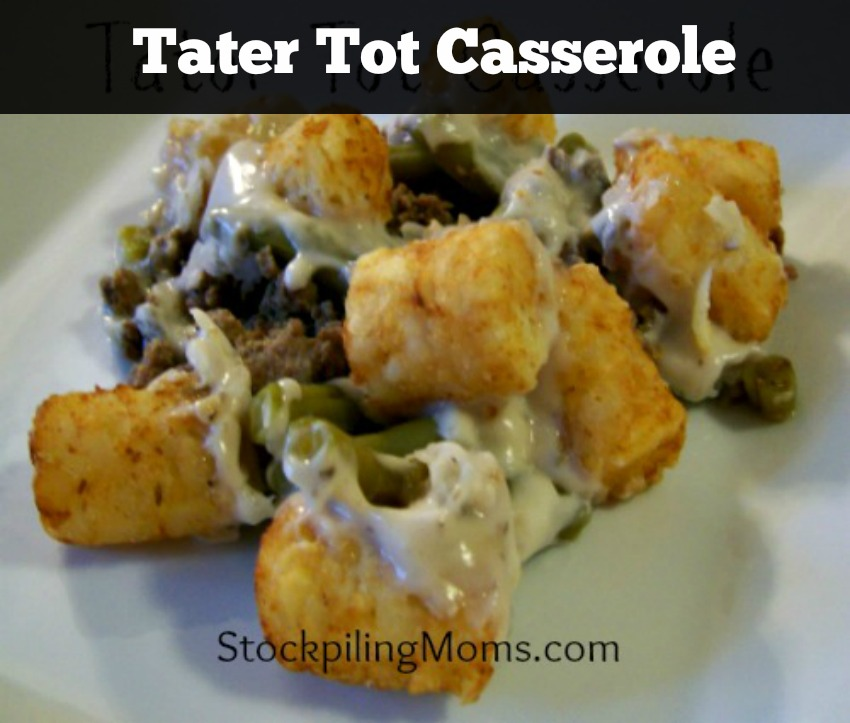 With only 5 ingredients in this Tater Tot Casserole your family will love the taste and you will love how easy it is to prepare!