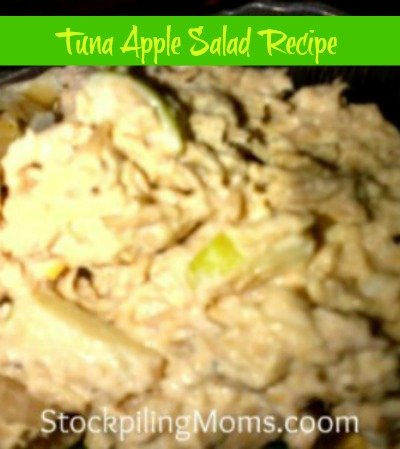 Tuna Apple Salad is easy to make and has a nice light crunch with the addition of the apples. Perfect for lunch during Lent.