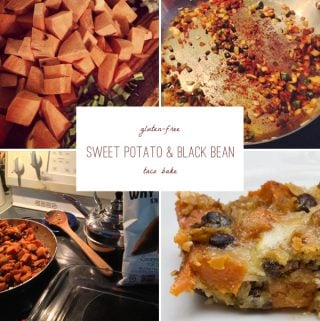 gluten free sweet potato black bean taco bake