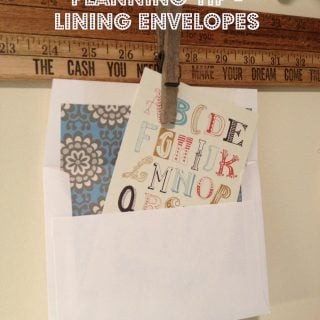 DIY Party Planning Tip – Lining Envelopes