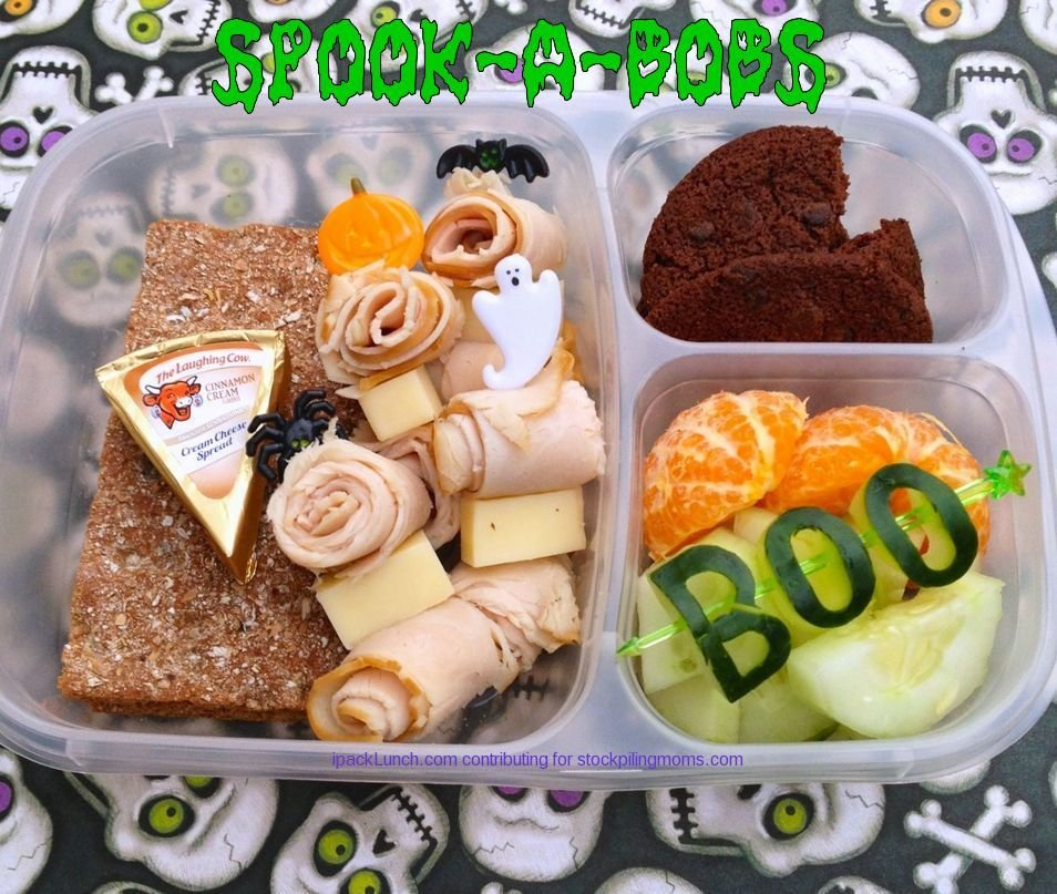 3 for 3 Lunchbox Challenge - Lunch Ideas using Turkey Slices, Cucumbers and Clementine Oranges (perfect for Halloween)